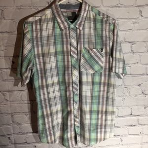 O'Neill plaid button down shirt Sz S